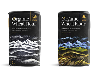 Organic Wheat Flour Packaging