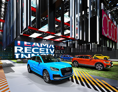 innovative design f095e fe954 Audi colorful booth Concept