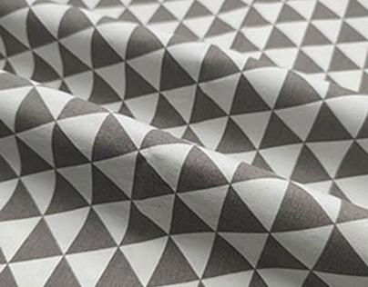 Cotton geometric print canvas