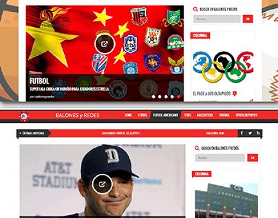 Diseño de blog deportivo para balones y redes