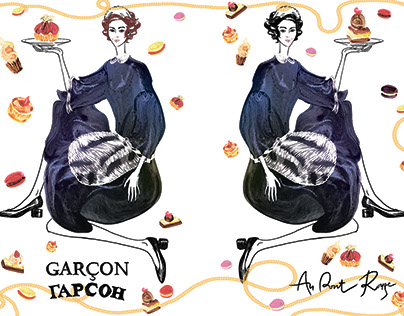 Alexandra Gritz for Garcon bakery. Christmas windows in