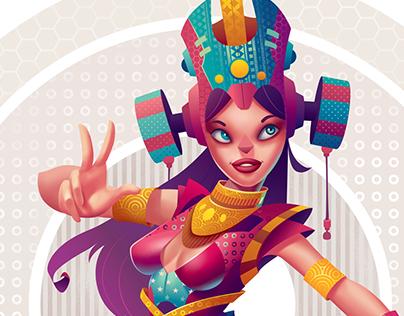 The Magical Dancer - Affinity Designer