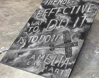 Amelia Earhart Chalkboard