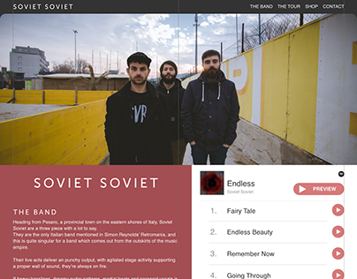 Band Website - Concept