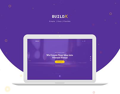 BuildX - Creative Agency Landing