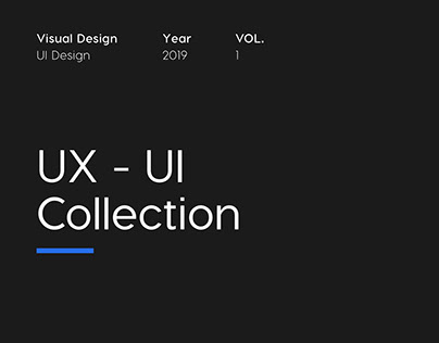 UX - UI Collection | VOL. 1