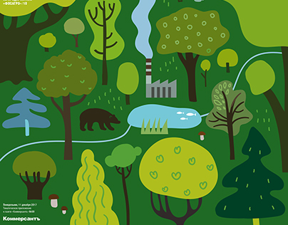 Ecology, cover illustration for Ъ Business Guide