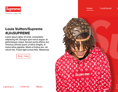 UIUX: Supreme website redesign