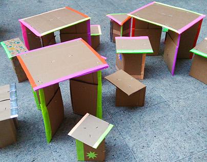 Oficina de Móveis de Papelão para Crianças - SENAC