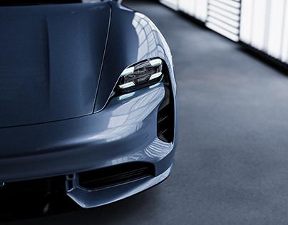 Porsche Taycan turbo S full CGI animation