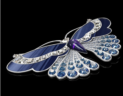 Jewelry 3D Modelling for a Brooch Design