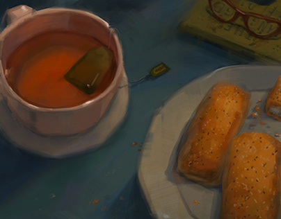 Tea and pastries Still Life