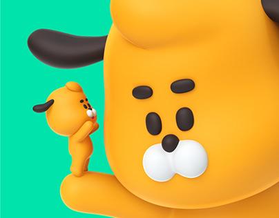 HWANGGOO 3D Emoticon Sticker