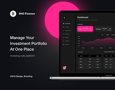 Investing Web App - Investing Dashboard - Finance - UX