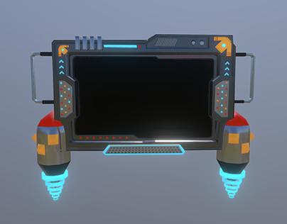 Sci-fi Tablet screen