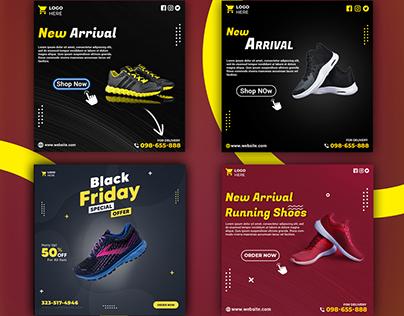 Social media Ads design || shoes banner Design ||