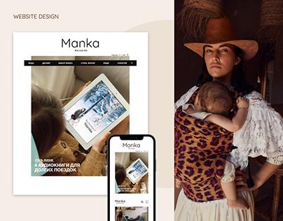 Website for Manka Magazine