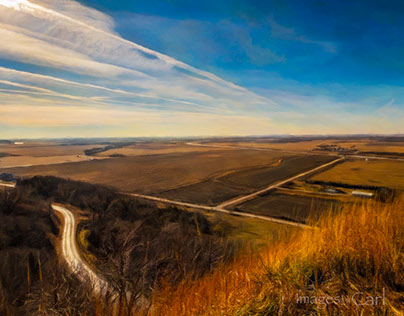 Loess Hills overlook, Iowa