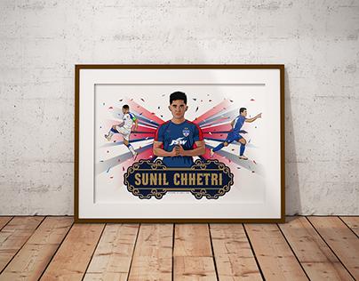 Sunil Chhetri (Bengaluru FC) - Tribute Artwork