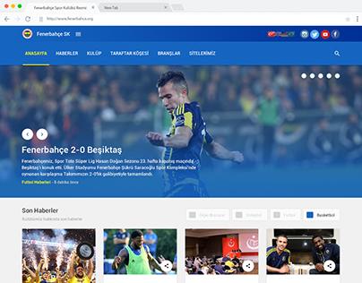 Fenerbahce.org - Redesign website