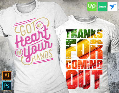 Colorful typography t-shirt design