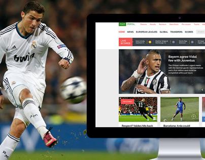 Football Portal UI Design
