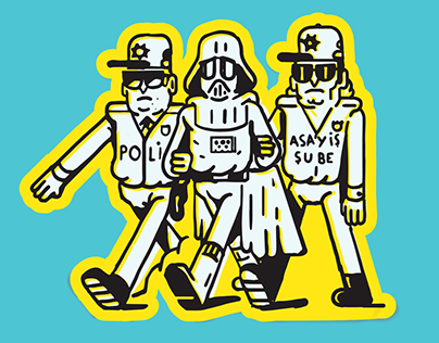 Villains Peace Operation / Screenprint Poster / KRÜW
