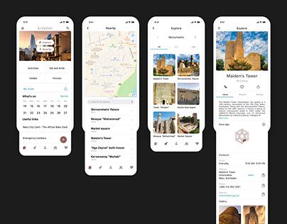 İçərişəhər | Mobile App Design (UX/UI Case Study)