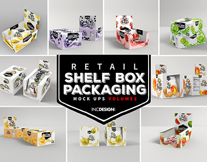Mockup Template: Retail Shelf Box Packaging Vol 02