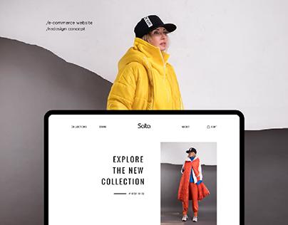 Salta™ Brand — redesign e-commerce website