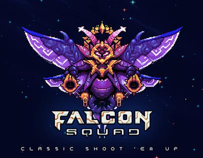 Falcon Squad - Classic shoot'em up - Game Art