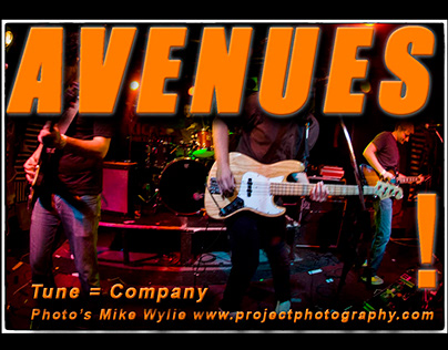 Avenues band live music rock n roll photos Mike Wylie