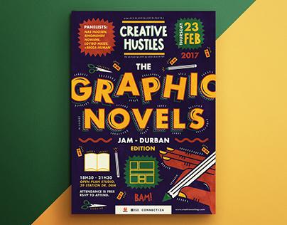 The Graphic Novels Jam Poster - February 2017