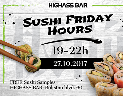 Sushi Friday Hours Flyer