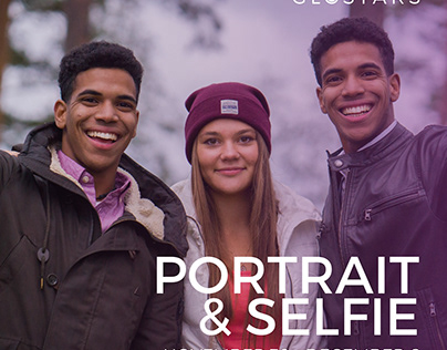 Portrait and Selfie photo contest invitation