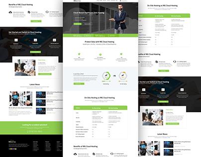 Web Hosting Website Template