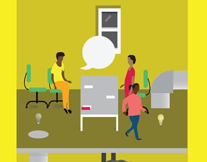 African Innovation Foundation Values Illustration