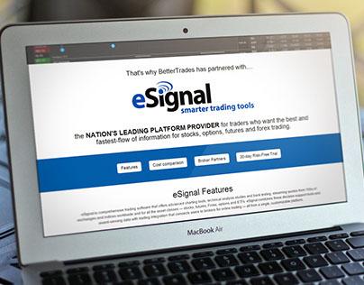 eSignal Landing Page