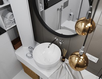 Bathroom for young couple