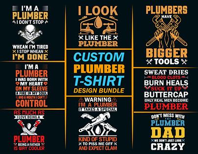 Custom Plumber T-shirts Design