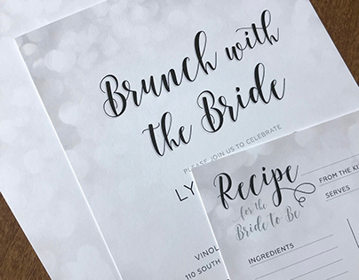 Bridal Shower Invitations & Recipe Cards