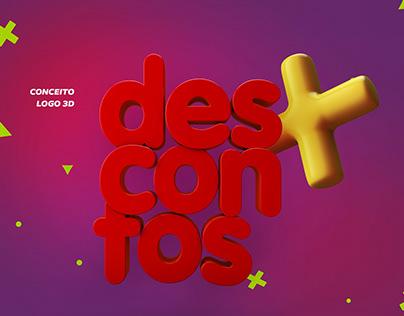 Conceito Logo 3D Campanha Dia Delivery