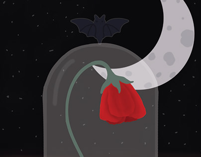 Quick digital art rose sketch