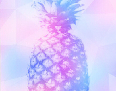 Pink and Purple pineapple