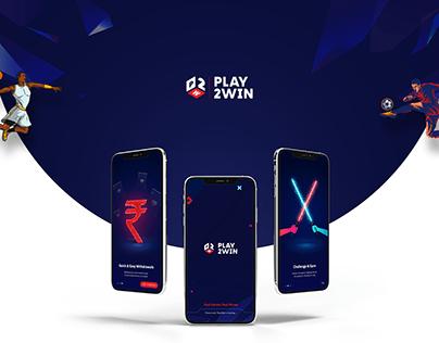PLAY2WIN APP UI/UX DESIGN