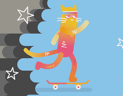 Cat skating