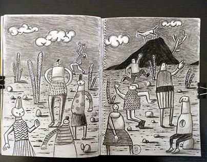 Desenhos a carvão