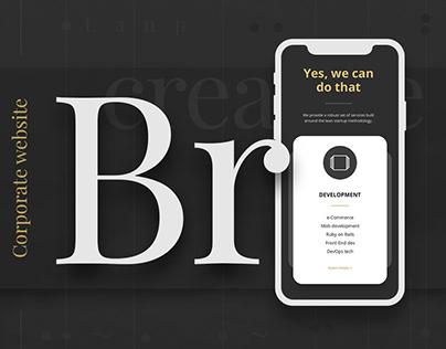 BRAMA • WEB • DESIGN • CORPORATE • UI