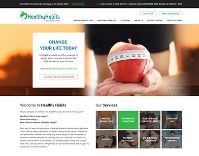 Healthy Habits Wellness Clinic Website UI/UX