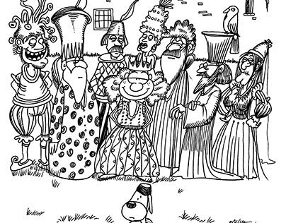 Illustrazioni pee la Fiaba La principessa Pinaccia.